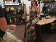 Lusty latina slut pawns her pussy and pounded by a pawn man