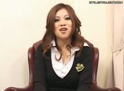 Manami Ebihara - Asian angel shows ass and gives handjob