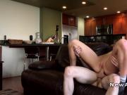Gorgeous girlfriend anal fuck for the first time