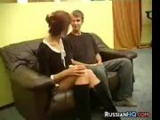 Mature Russian Riding Young Cock
