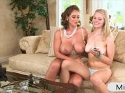Two naughty women Eva Notty and Allie Rae threeway session
