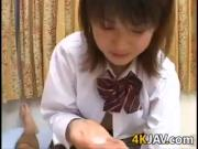Japanese Cutie Cleans Herself