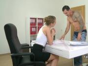 Tattooed stud bangs female casting agent