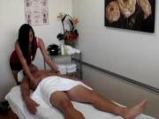 Beautiful asian masseuse strip and fuck