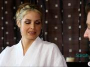 Sarah Vandella gives nuru massage and fucked by her nephew