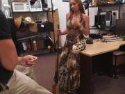 Real pawn shop beauty poses for pictures