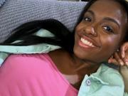 Newbie ebony ravaged teen gets facialized