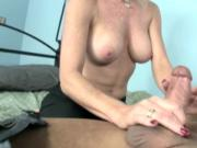 Spex cougar handling his hard dick