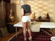 Hot blonde babe Dylan Phoenix gets drilled by her masseur