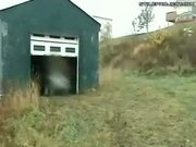 ATV Rider Vs. Garage Door