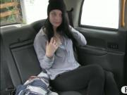 Sexy amateur passenger gets her twat rammed in the backseat
