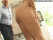Asian Chick Choked, Fucked & Facialed