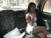 Big breasts babe nailed in the backseat for a free cab fare