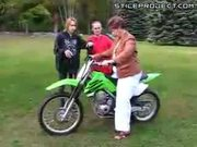 Mom On A Dirt Bike