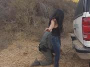 An agent caught Alejandra in the border and banged her right in the open