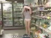 Japanese Schoolgirl Fucked In Public Grocery Store