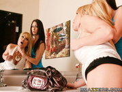Two Hot Lesbians Play Dirty Games Together