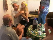 Russian Amateur Teen In Gangbang Action