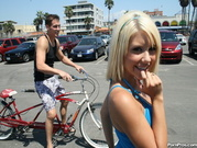 Tessa Taylor Rides Dude after Riding a Bike!