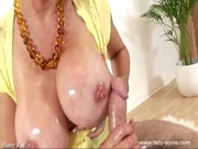 Lady Sonia - MILF Oils and Titty Fucks Cock