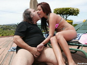 Tasia Loves The Old Wrinkly Cock Meat