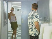 Blonde Milf - Public Toilet Sex