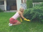 Blonde Teen Sabrina Fucked In The Garden