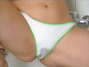 German Brunette Playing With Panties