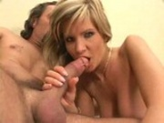 Blonde with nice boobies sucking