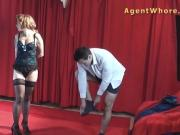 Young man gets BJ and handjob from redhead