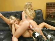 Pair of blonde twin sluts toy sex