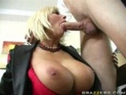 Employee works hard to please his ladyboss