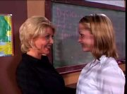 Jasmine Lynn and Sharon Kane in school