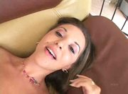 She learns to squirt and to spank her tits