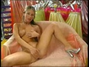 Blonde strokes herself