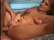 Lucky dick stuffing all holes