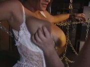 Huge boobs in breast bondage