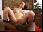Black haired tranny getting pounded