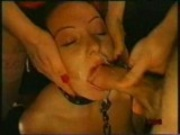 Bondage Girl forced to suck