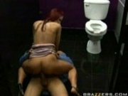 Having a fuck on a bar toilet
