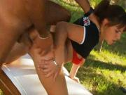 Claudia Antonelli gets fucked in the park
