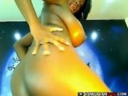 Black girl big tight boobs dancing sex show