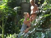 Gardener also has to stuff horny vagina