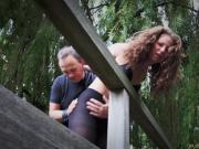 Newbie girl endures bondage spank and drill