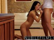 Erotic seduction gives petite babe full body