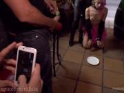 Punk Slut Publicly Shamed And Fucked