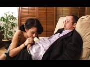 Horny husband slams babysitter