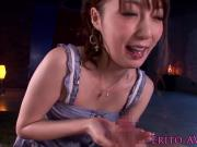 Asian cfnm model sucking a cock to climax