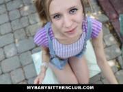 Petite Baby Sitter Caught Masturbating