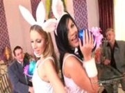 Madison and Debbie hot Easter bunnies